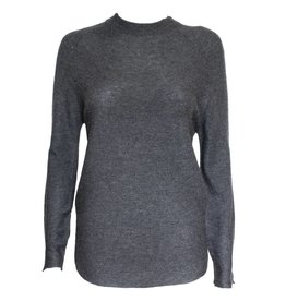 Colour 5 Power Colour 5 Power High Neck Knit Long Sleeve - Dark Grey