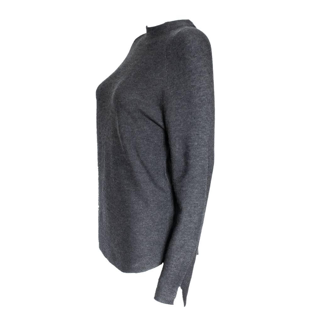 Colour 5 Power Colour 5 Power High Neck Knit Long Sleeve - Dark Grey