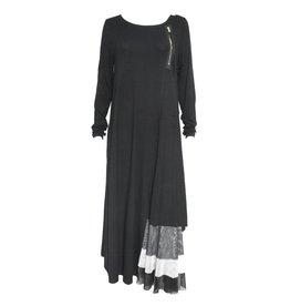 NY77 Design NY77 Long Sleeve Corner Zip Dress - Black