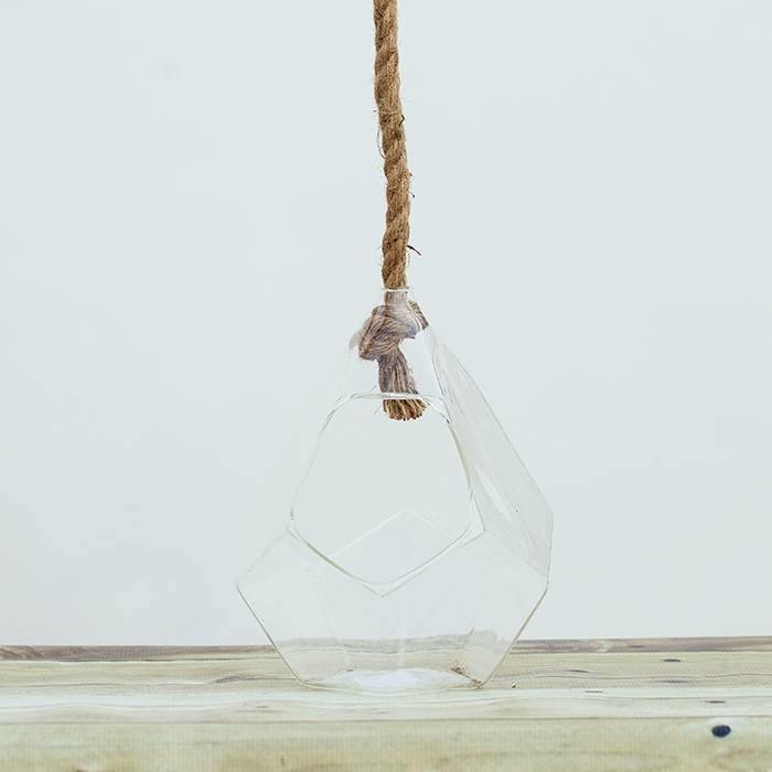 Hanging Terrarium With Rope