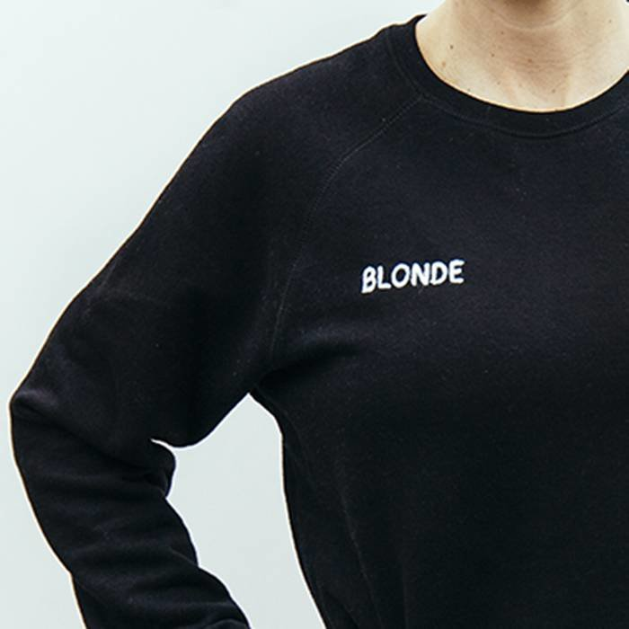 Blonde Middle Sister Crew Neck