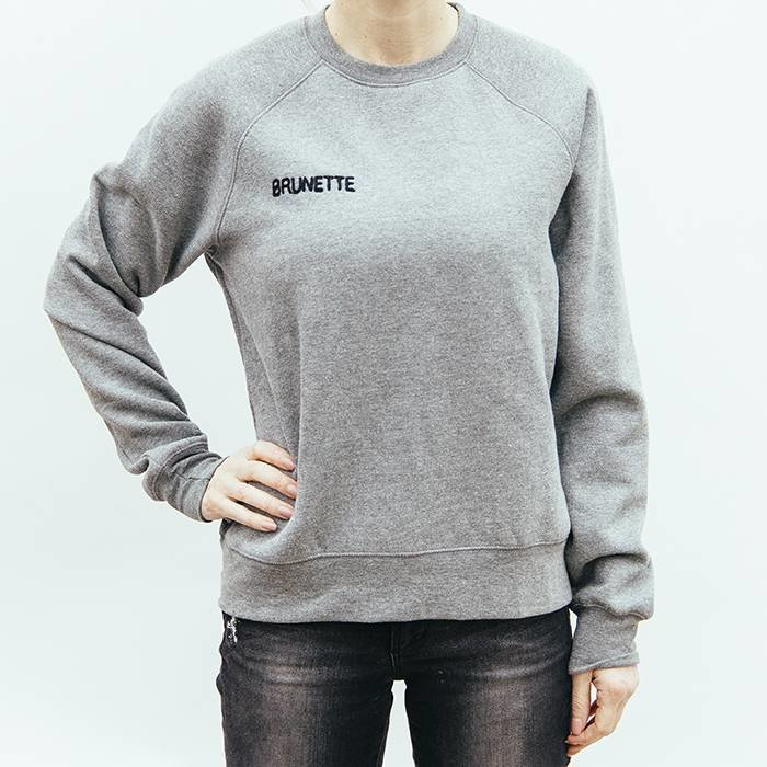 Brunette Middle Sister Crew Neck