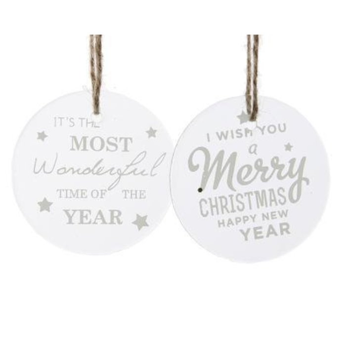 Glass Ornament with Text