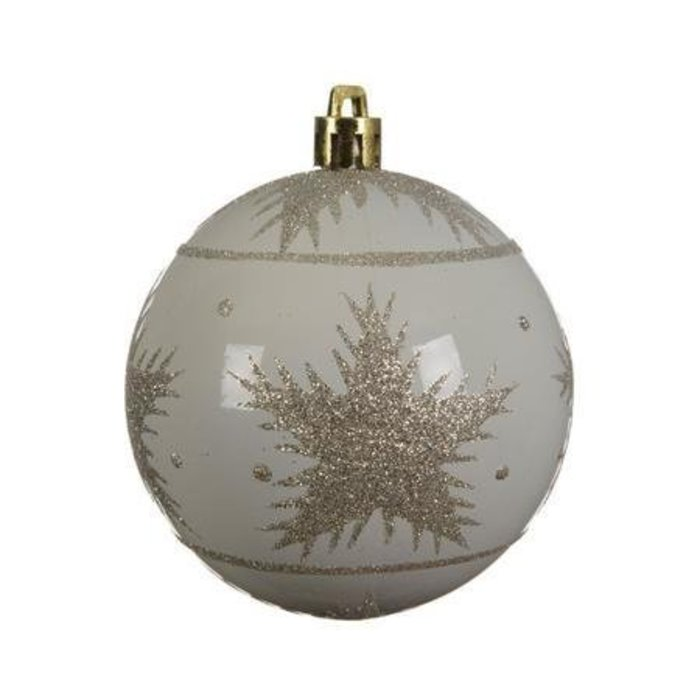 Wool White Bauble 3""