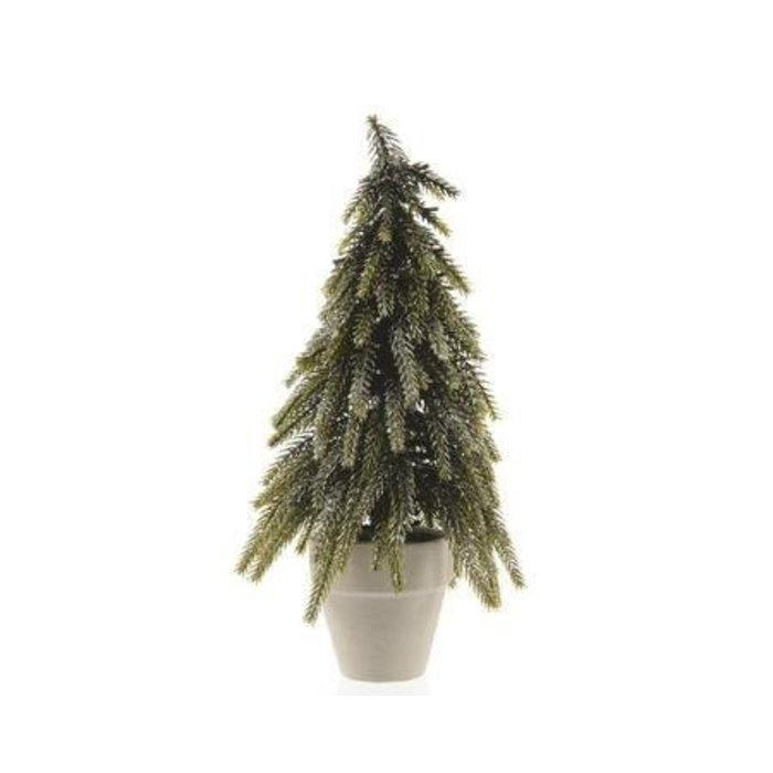"""Mini Tree in Paper Planter with Silver Glitter 6""""x10"""""""