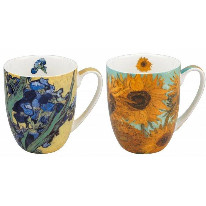 Van Gogh Flowers Mug Pair