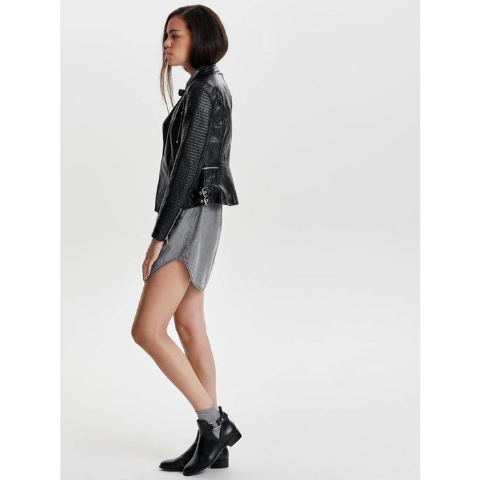Nette Faux Leather Biker Jacket