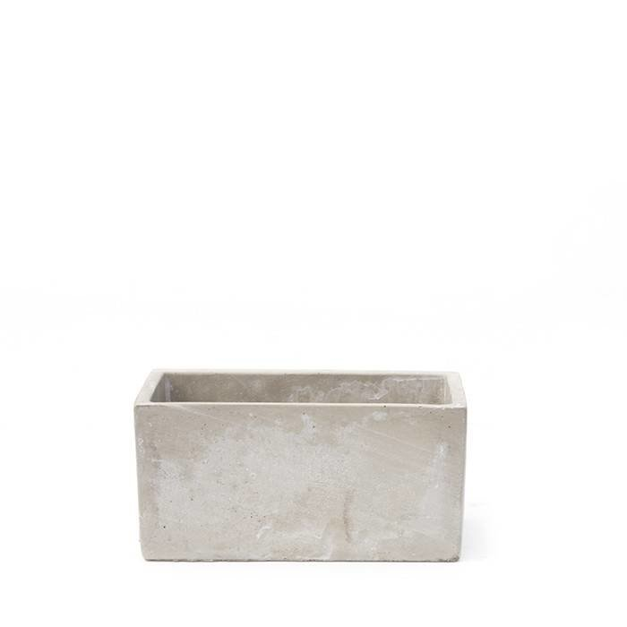 Grace Rectangle Cement Vase