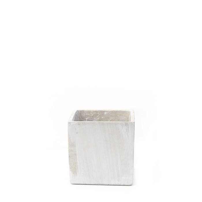 Grace Square Cement Vase