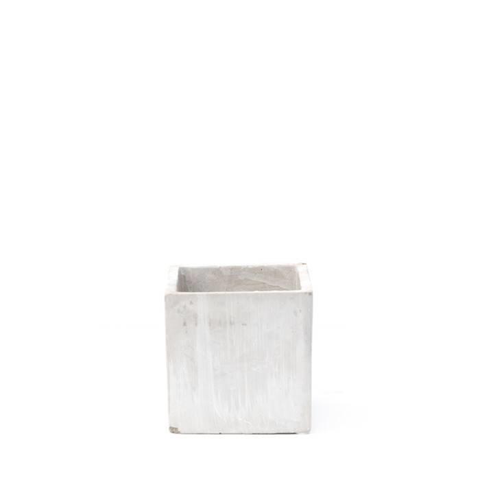 Grace Square Cement Vase