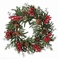 "Waterproof Berry, Cedar, and Hemlock Wreath 24"""