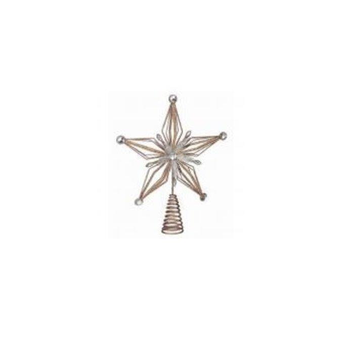 Wire Glitter Jewel Star Tree Topper