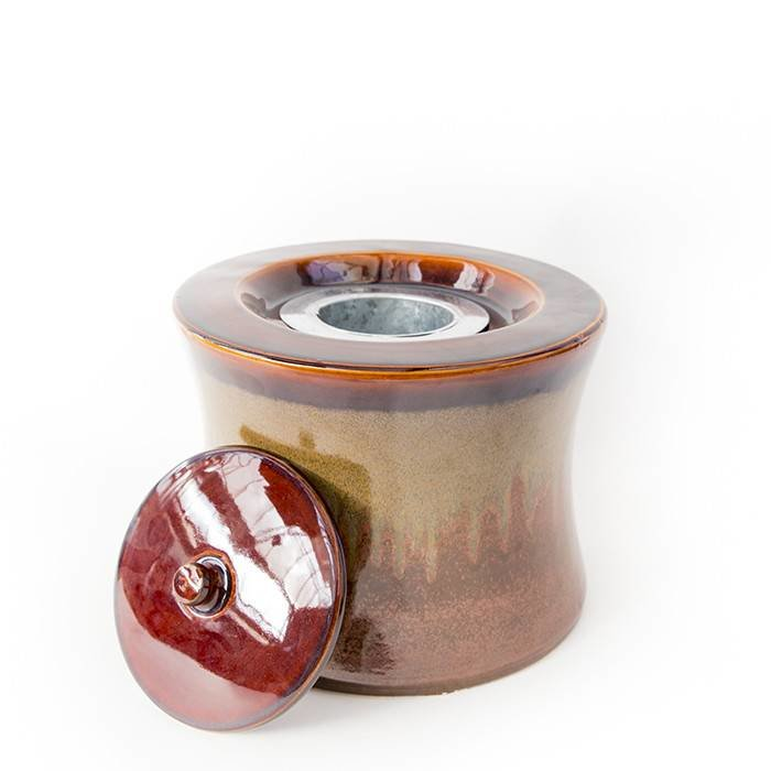 Fire Pot Flare Round Chestnut
