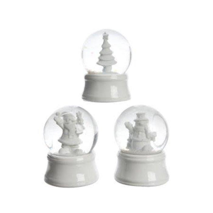 """White Snow Globe 2"""" x 2.5"""""""