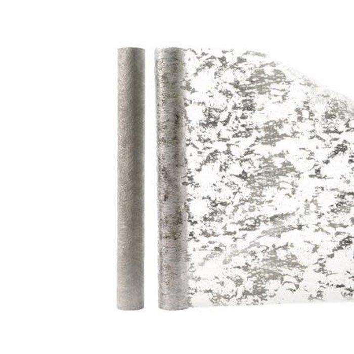 """Metallic Silver Fabric 14"""" x 80"""""""