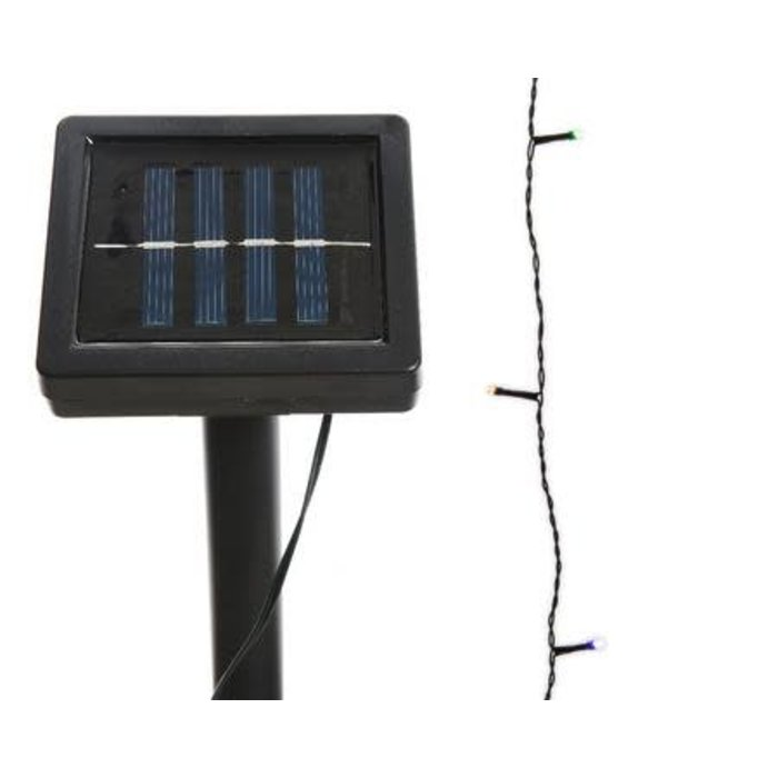 Solar LED Outdoor String Light Multicolored 32ft