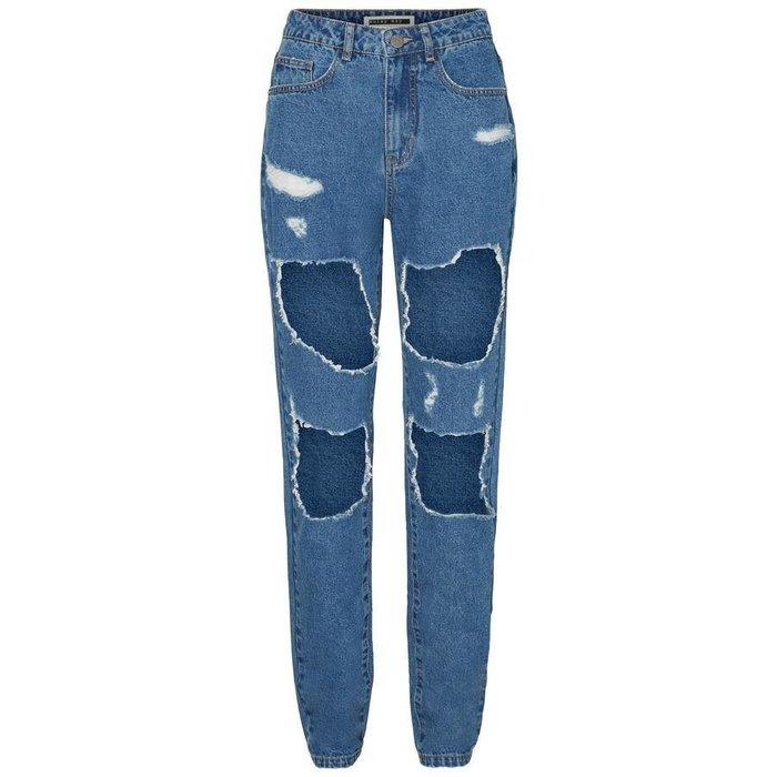 Donna HW Mom Destroy Jeans