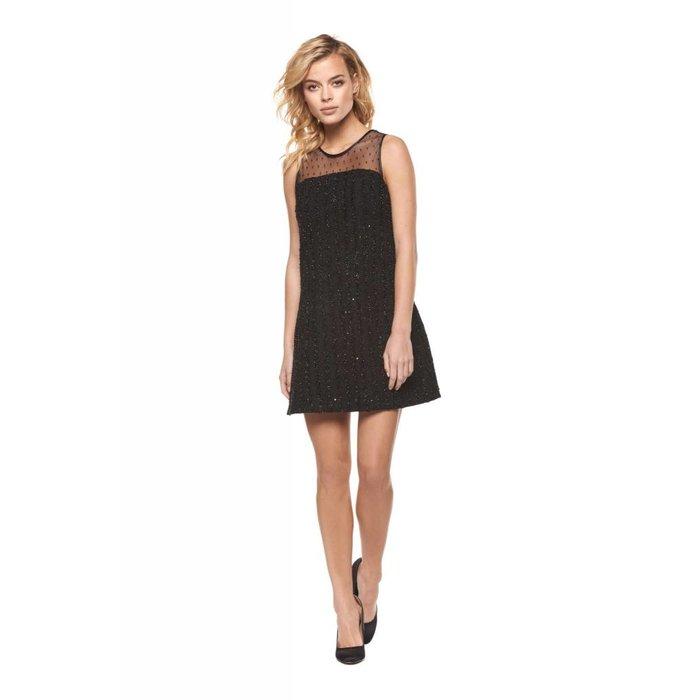 Sequin Mesh Combo Dress