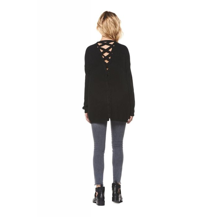 Cardigan with Back Lace Up Detail