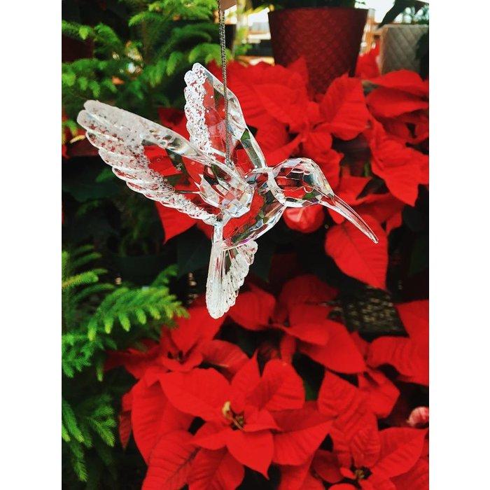"""Hummingbird Ornament Clear 3"""""""