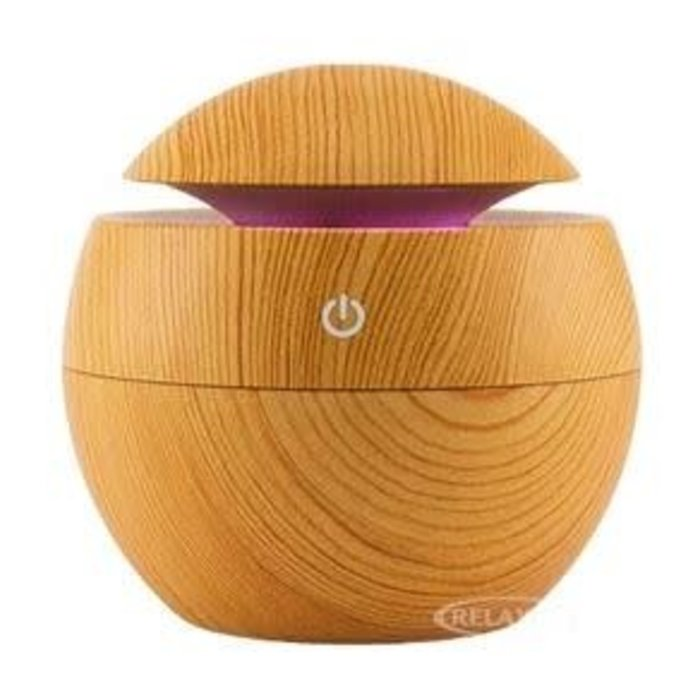 Mini Magic Diffuser With Light Faux Wood