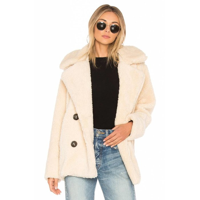 Notched Teddy Peacoat