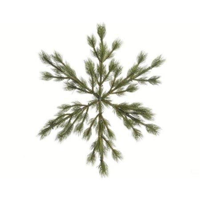 "Tree Snowflake Green 15"""