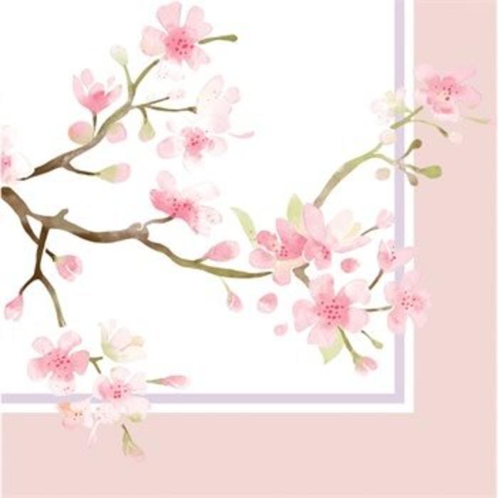 Cocktail Napkin Cherry Blossom