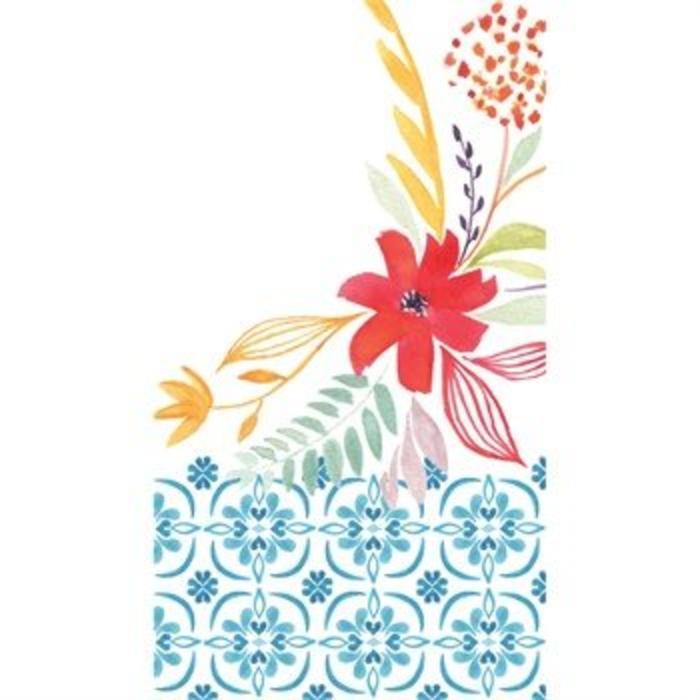 Paper Guest Towel Watercolor Floral