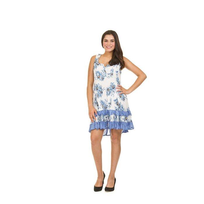 Floral Print Crinkle Dress