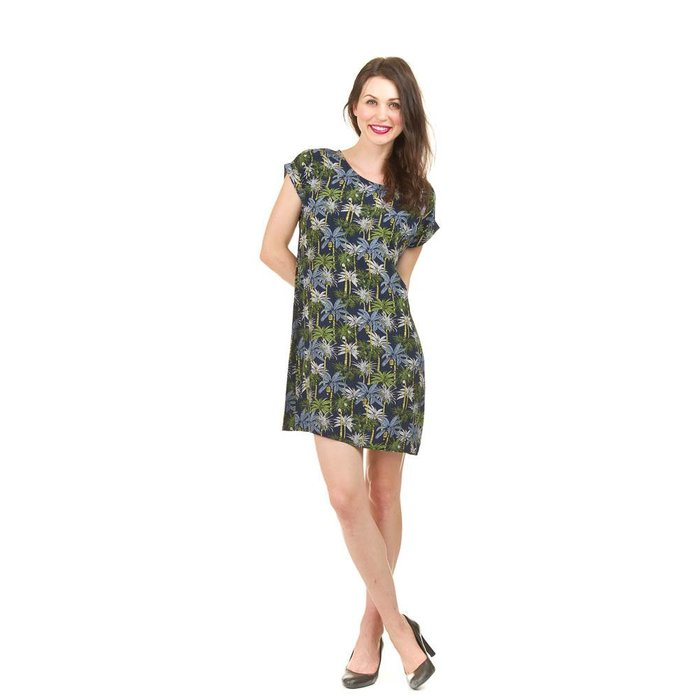 Palm Print Shift Dress