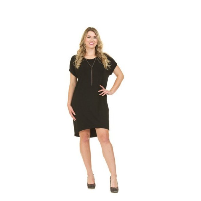 Cold Shoulder Midi Jersey Dress