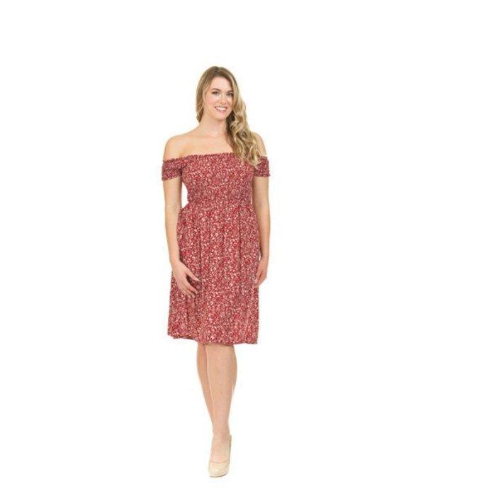 Ditsy Floral Off The Shoulder Dress