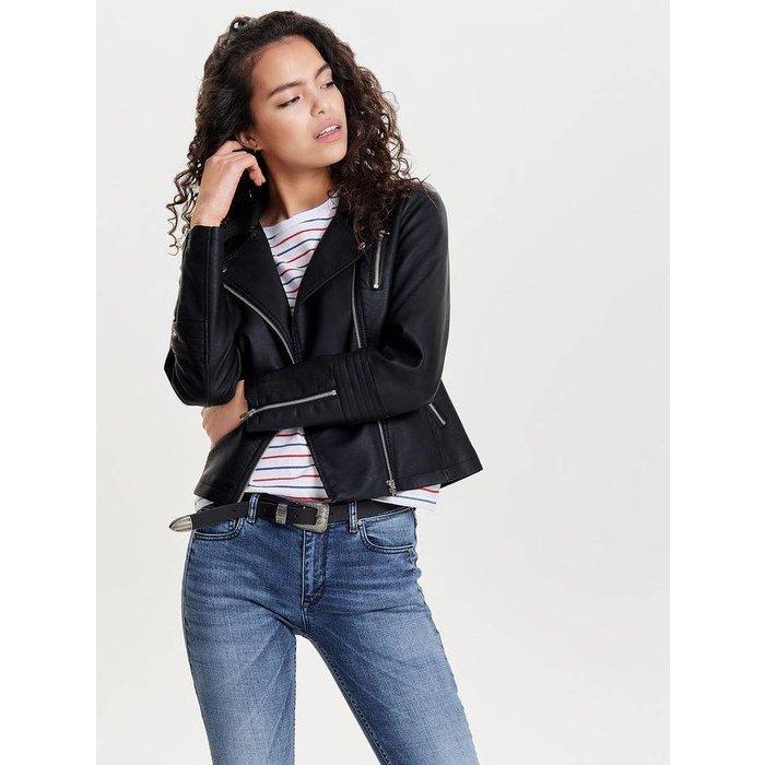 Gemma Faux Leather Biker Jacket