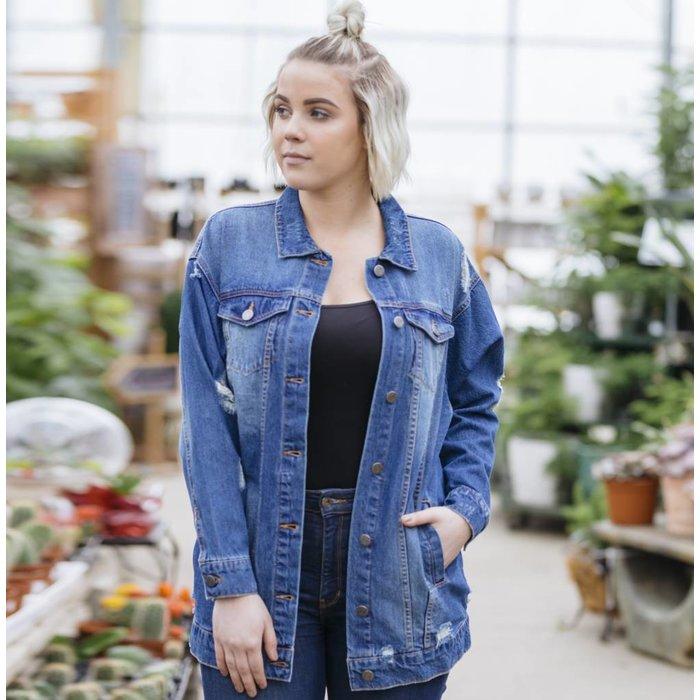 Angie Oversized Denim Jacket