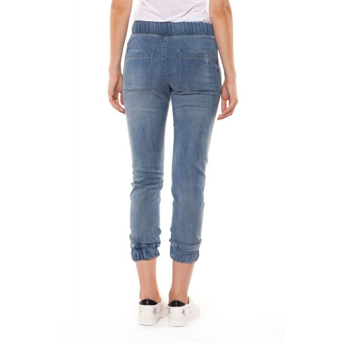 Washed Out Tencel Ripped Jogger