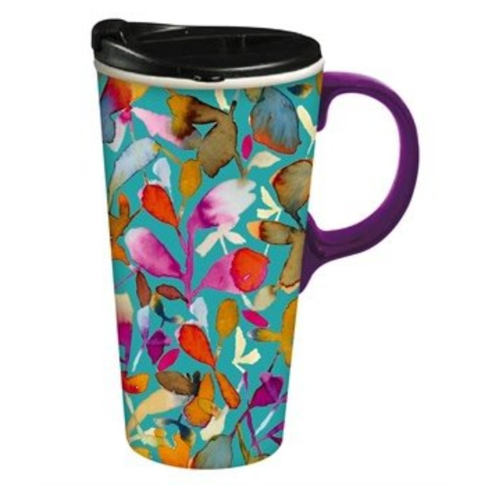 Ceramic Travel Cup Isabelle Floral