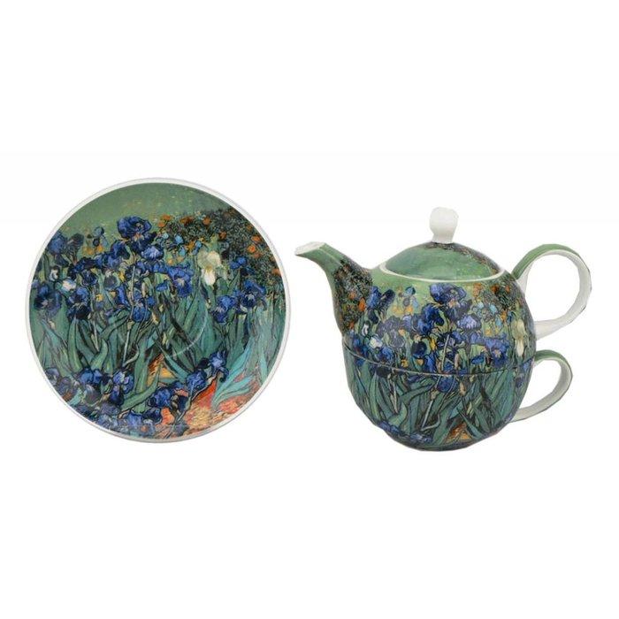 Van Gogh Irises Tea For One