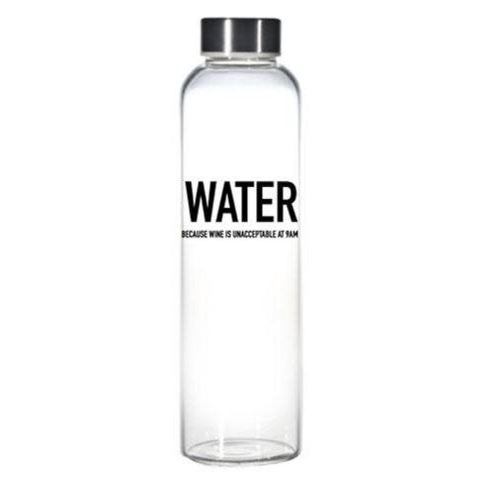 Water Because Wine Water Bottle