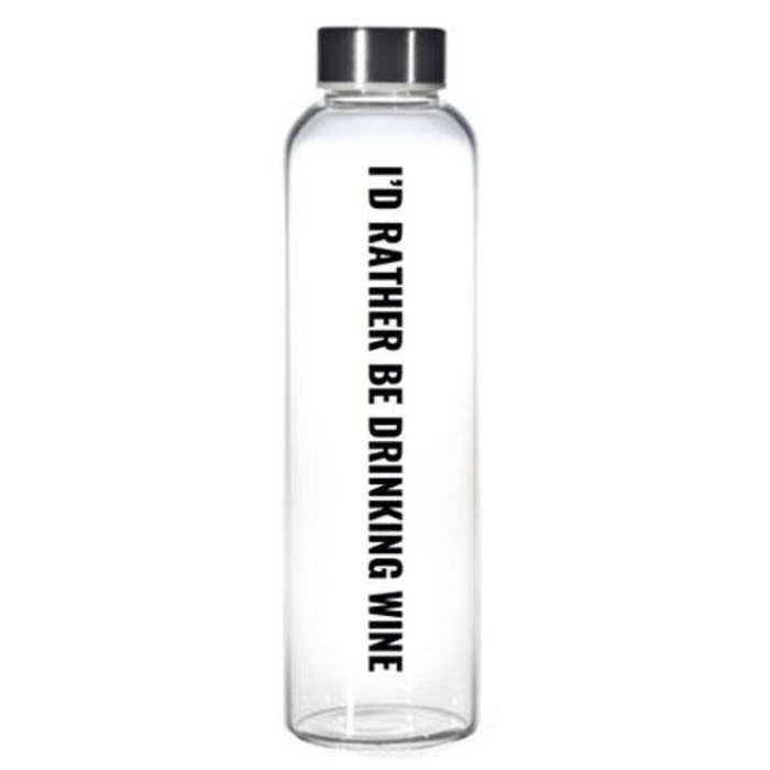 Rather Be Drinking Wine Water Bottle