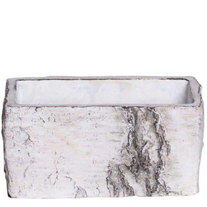 """Cement Birch Bark Planter 5.5"""" x 2.75"""""""