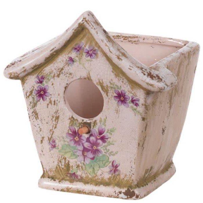 """Violet Birdhouse Pottery 4"""" x 3.75"""""""