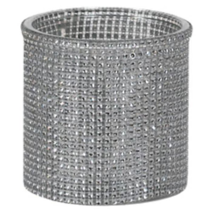 """Silver Beaded Cylinder 4.75"""" x 4.75"""""""