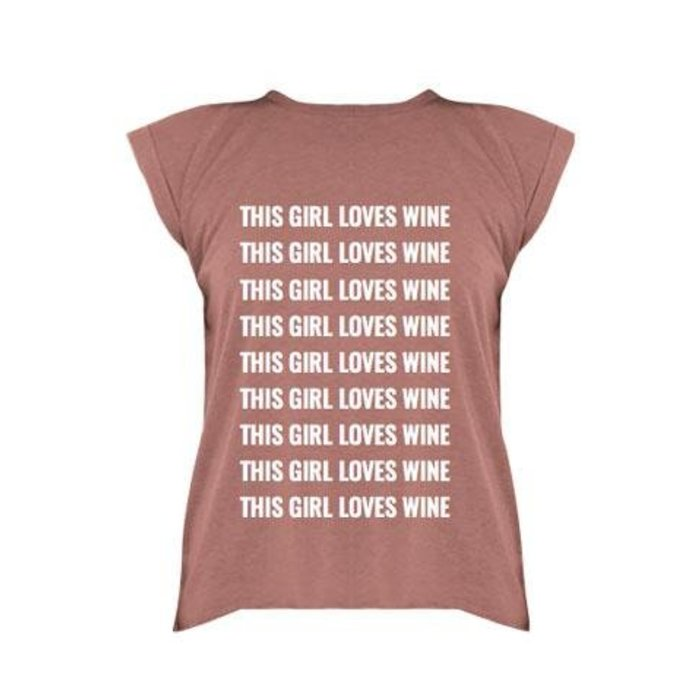 This Girl Loves Wine Cuff Tee