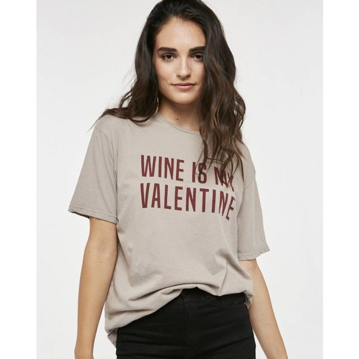 Wine Is My Valentine Tee