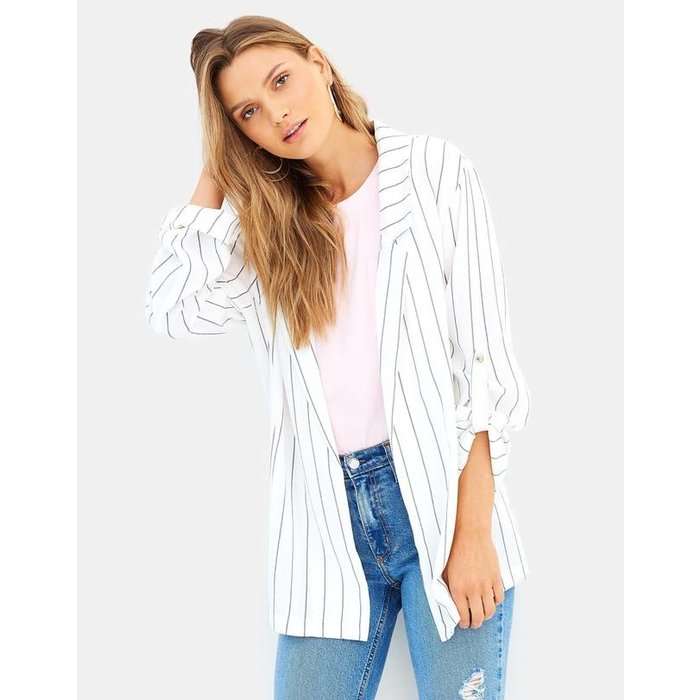 Pin Stripe Soft Blazer