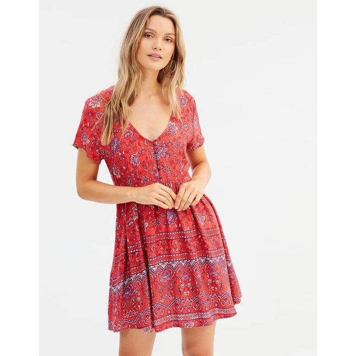 Lucia Button Front Mini Dress