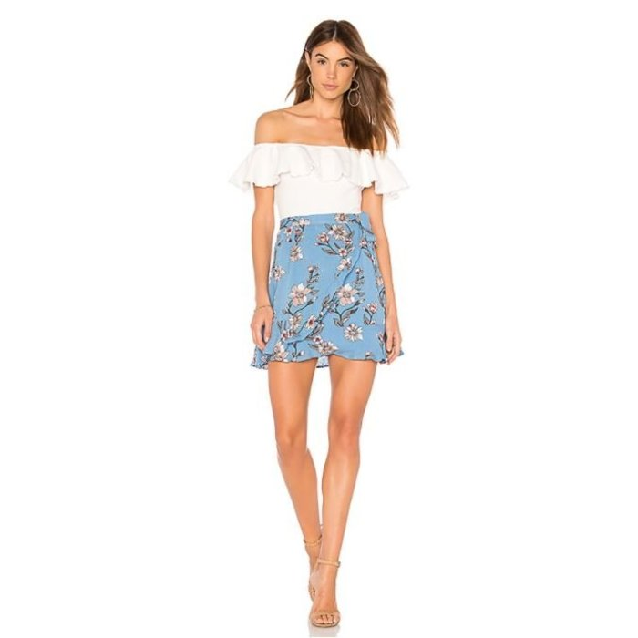 Somerset Wrap Ruffle Skirt