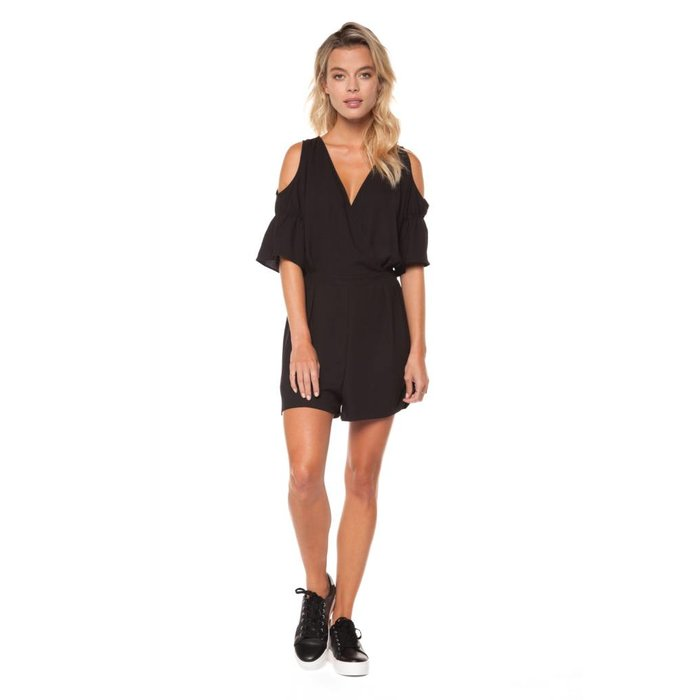 Cold Shoulder Romper with Keyhole