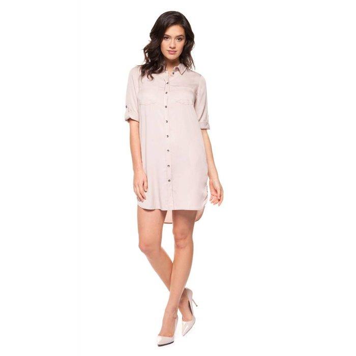 Button Front Tencel Dress